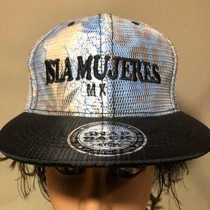 Isla Mujeres Cancun Mexico Flat Bill Snap Back Hat